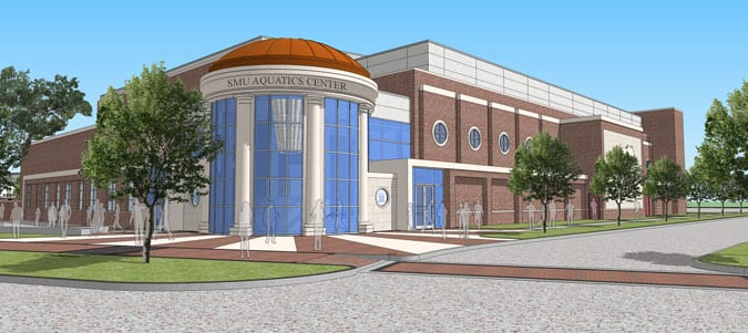 Robson and Lindley Aquatics Center, artist's rendering