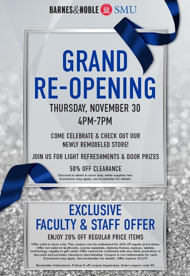 SMU Bookstore Grand Re-opening
