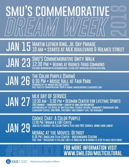Dream Week 2018 schedule