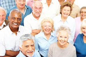 Active seniors - stock photo