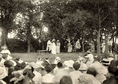 SMU's Arden Club in a 1916 performance of 'As You Like It'