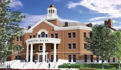 Artist's rendering of SMU's new Caruth Hall