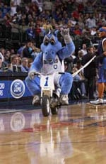 Champ, the Dallas Mavericks mascot