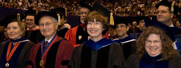 SMU faculty at Commencement