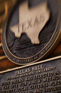 Dallas Hall historical marker