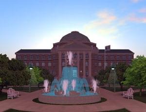 Dallas Hall in Second Life