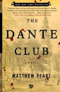 Book cover of Matthew Pearl's 'The Dante Club'