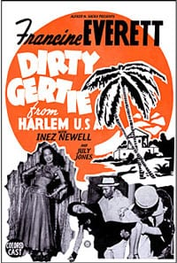 Movie poster for 'Dirty Gertie from Harlem U.S.A.'