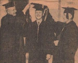 Economics Ph.D. David Bowers with Willis Tate and Paul Homan, 1963