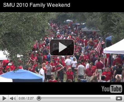 Family Weekend 2010 YouTube screen