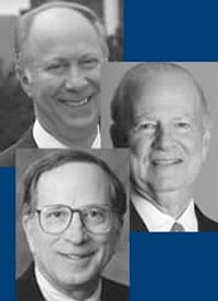David Gergen, James A. Baker III, and Sam Nunn