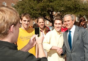 George W. Bush visit, Feb. 24, 2009