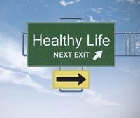 Stock art: 'Healthy Life, Next Exit'