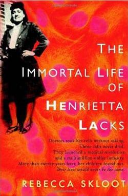 Book cover of 'The Immortal Life of Henrietta Lacks'