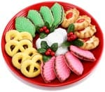 Stock photo of holiday cookies on a plate