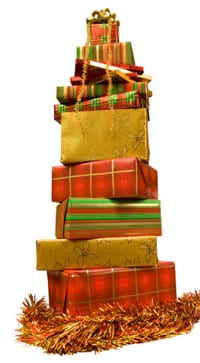 Holiday gift tower