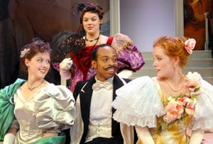 Jennifer St. Angelo, Olivia Williamson, Johnard Washington and Cheryl Lowber in SMU's 2008 production of 'An Ideal Husband'