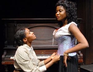 Scene from the Meadows Theatre production of 'Intimate Apparel'