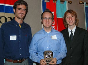 Eddie Hourigan, Mark Fontenot and Ben Koopferstock at SMU's 2008 HOPE Awards