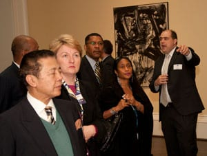 SMU Meadows Museum Director Mark Roglan with State Department tour group