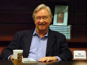 Marsh Terry at a booksigning for 'The Memorialist'