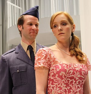 Matt Tallman and Cheryl Lowber in the 2010 Meadows Theatre production of 'Much Ado About Nothing'