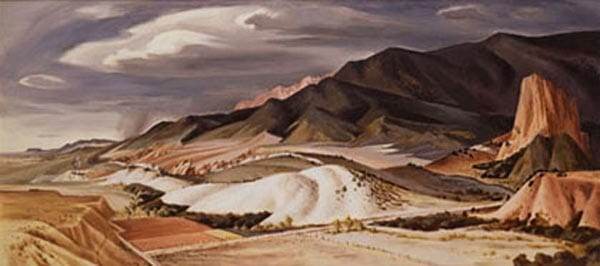 Section of 'Where the Mountains Meet the Plains' by Jerry Bywaters