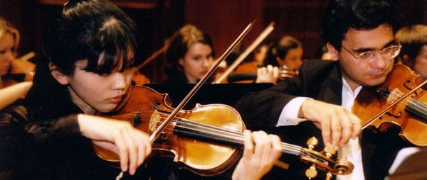 Meadows Symphony Orchestra strings