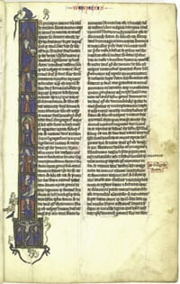 Illuminated Paris Vulgate, ca. 1250, from SMU's Elizabeth Perkins Prothro Bible Collection