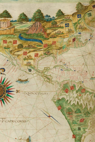 Antonio Pereiro map, 1545, courtesy of the John Carter Brown Library