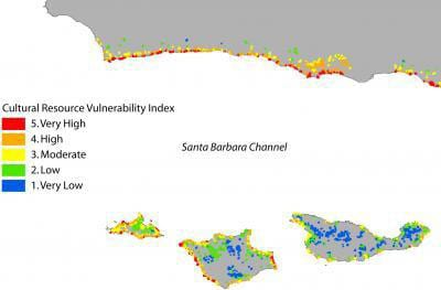 Santa Barbara Channel site vulnerability index by Leslie Reeder of SMU