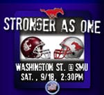 SMU-Washington State promo logo