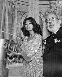Sophia Loren and Stanley Marcus at the 1975 Italian Fortnight