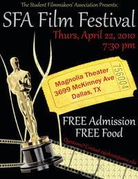 SMU's SFA Student Film Festival 2010 poster