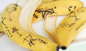 'Symmetry' magazine banana-peel physics photo