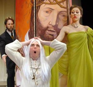 SMU students Matt Tallman, Clay Bunker and Emily Ernst in 'Tartuffe'