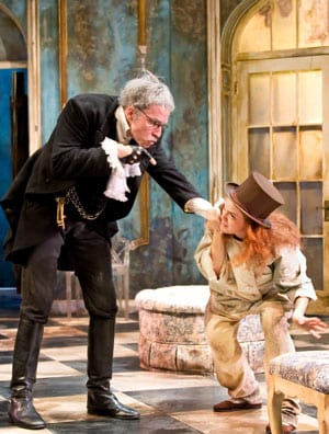 Teddy Spencer and Katherine Bourne in the 2011 Meadows Theatre production of 'The Miser' at SMU