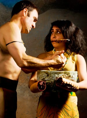 Joe Nemmers and Rukhmani Desai in 'Titus Andronicus'
