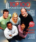 'Top 100 Places to Work 2009' cover