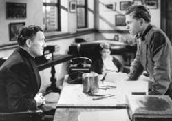 Spencer Tracy and Mickey Rooney in 'Boys Town' (1938)