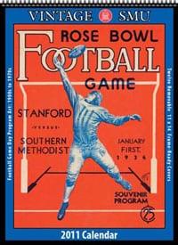 Vintage SMU Football Calendar 2011