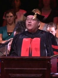 Dedman College Dean William Tsutsui speaks at SMU's Opening Convocation 2010