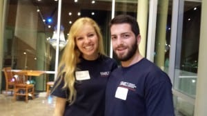Undgrads of TAI help at event - Katie and Connor
