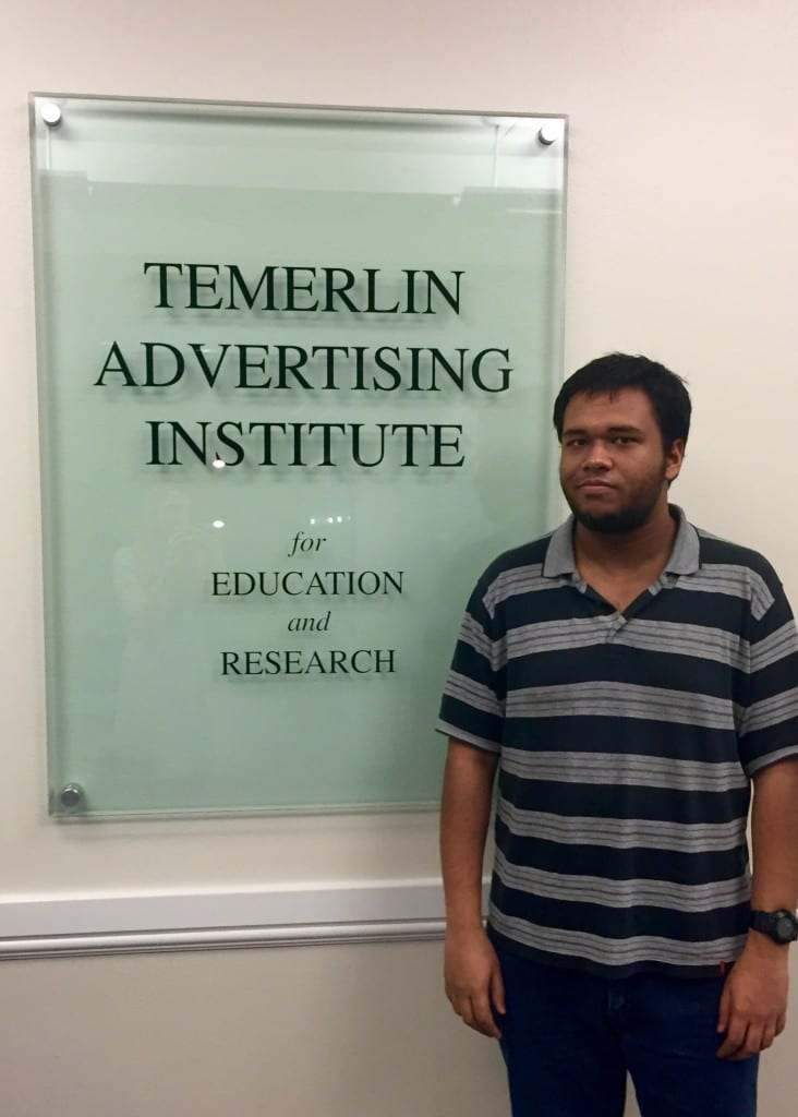 AHM Mustafizur Rahman is a first year graduate student in the MA in Advertising program.