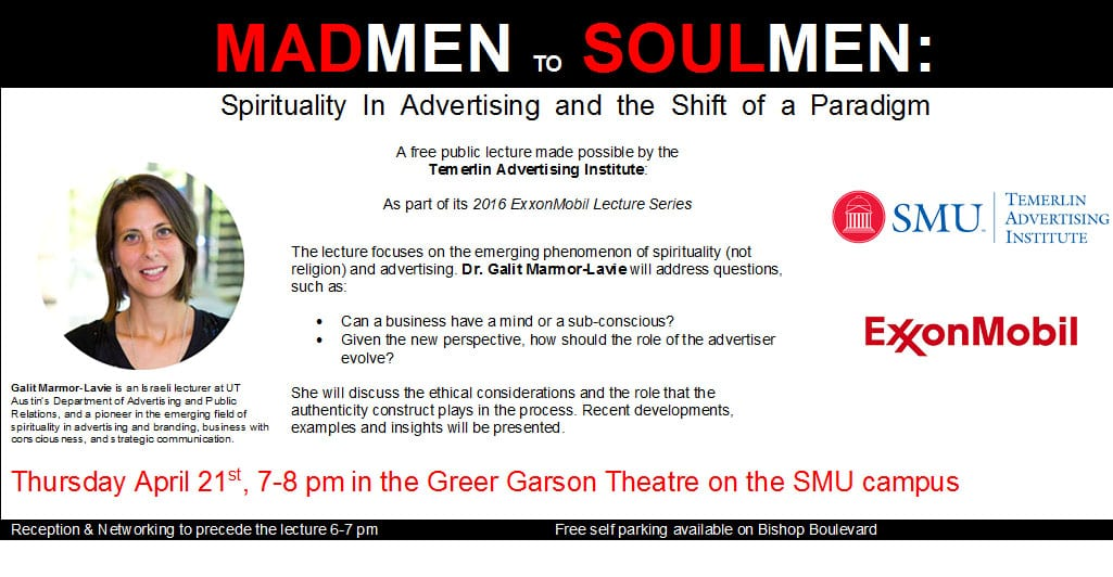 Spirituality in Advertising Invitation