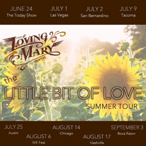 Loving Mary Tour promotion created by Nicki Fletcher.