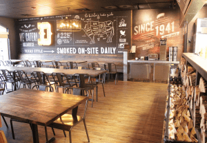 One view of Dickey's Barbecue Pit's new restaurant layout.