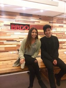 Lopez inside the BBDO office in New York.
