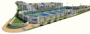 Rendering of SMU Tennis Complex