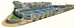 Rendering of SMU Tennis Complex